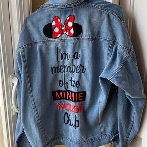 Disney Store Minnie Mouse Denim Jacket XL